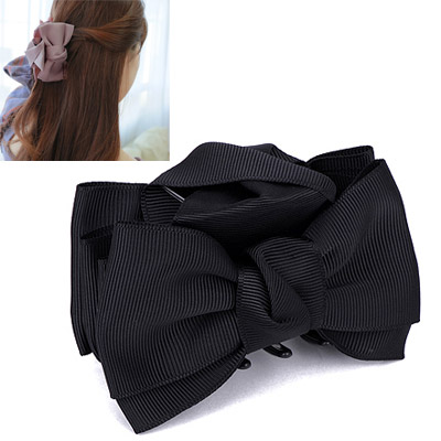 Fancy Black Bowknot Decorated Simple Design Acetate Sheet Hair clip hair claw