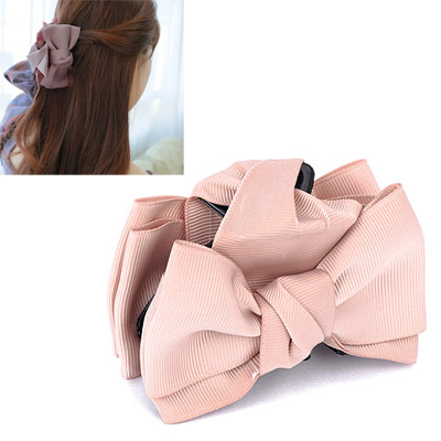 2011 Khaki Bowknot Decorated Simple Design Acetate Sheet Hair clip hair claw
