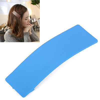 French Sky Blue Rectangular Shape Simple Design Acetate Sheet Hair clip hair claw