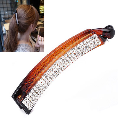 Guardian Coffee Diamond Decorated Simple Design Acetate Sheet Hair clip hair claw
