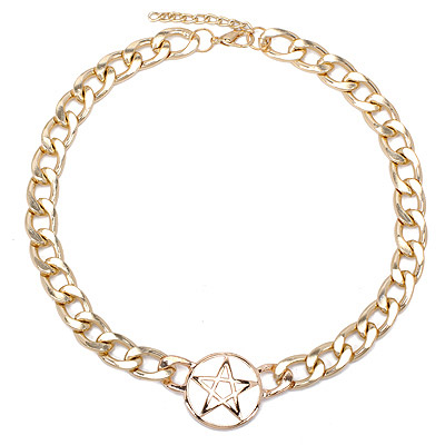 Heather Gold Color Star Shape Decorated Simple Design Alloy Chains