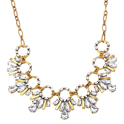 Attractive White Diamond Decorated Bee Shape Design Alloy Bib Necklaces