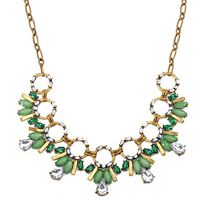 Noble Green Diamond Decorated Bee Shape Design Alloy Bib Necklaces