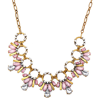 Creative Pink Diamond Decorated Bee Shape Design Alloy Bib Necklaces