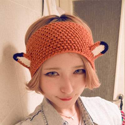 Everlas Orange Ears Shape Simple Design Wool Beanies Others