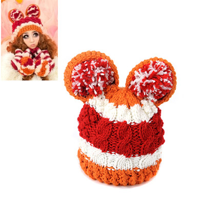 Padded Orange Big Ears Shape Simple Design