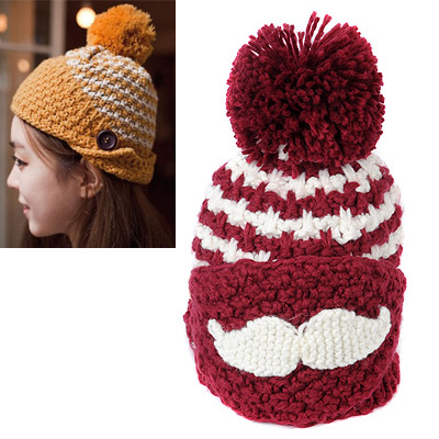 Pregnancy Claret-red Beard Pattern Simple Design
