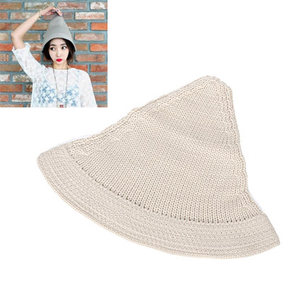 Petite Beige Pure Color Simple Design Wool Knitting Wool Hats