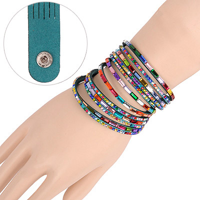 Flip Green Multilayer Simple Design Acrylic Korean Fashion Bracelet