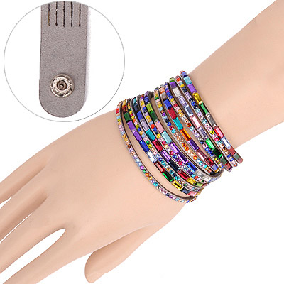 Velvet Gray Multilayer Simple Design Acrylic Korean Fashion Bracelet