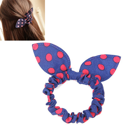 Upper Blue & Red Dot Pattern Bowknot Shape Design Chiffon Hair band hair hoop