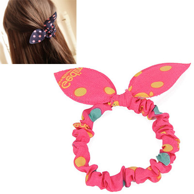 Velvet Plum Red Letter Pattern Bowknot Shape Design Chiffon Hair band hair hoop