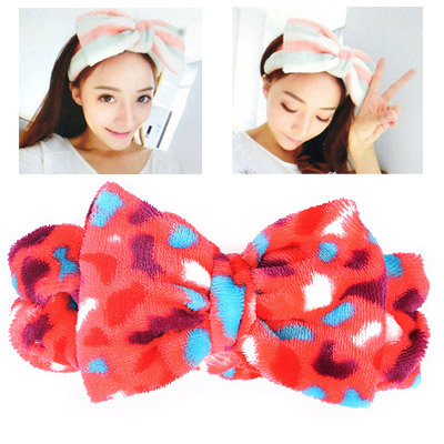 Memorable Red Leopard Pattern Bowknot Shape Design