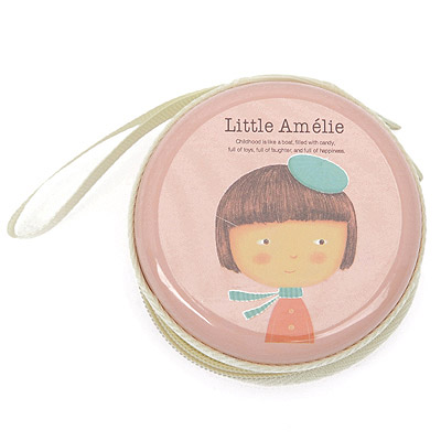 Recycled Pink Little Girl Pattern Round Shape Design