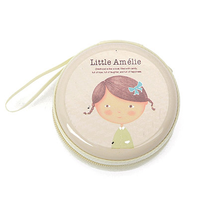 Human Beige Little Girl Pattern Round Shape Design