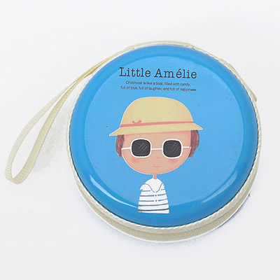 Lace Blue Little Boy Pattern Round Shape Design