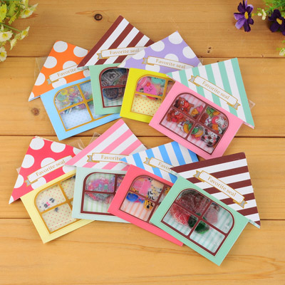 Lined Color Will Be Random Cartoon House Shape Simple Design Stickers Stickers Tape