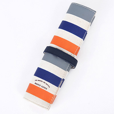Screw Blue Stripes Pattern Simple Design Canvas Pencil Case Paper Bags