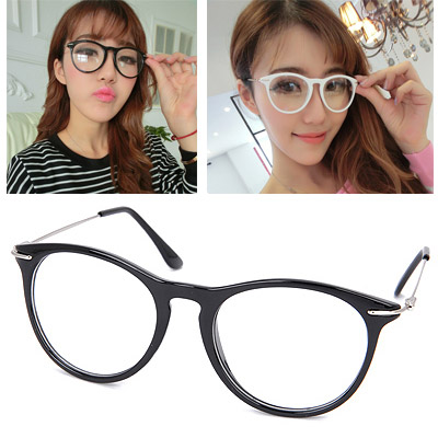 Winter Black Thin Legs Decorated Plain Design Resin Fashon Glasses