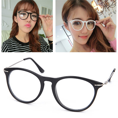 Sparking Matte Black Thin Legs Decorated Plain Design Resin Fashon Glasses