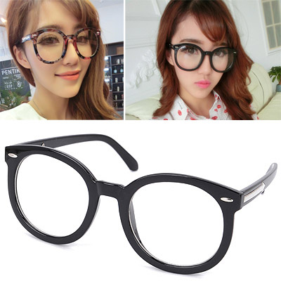 Juniors Black Arrow Decorated Plain Design Resin Fashon Glasses