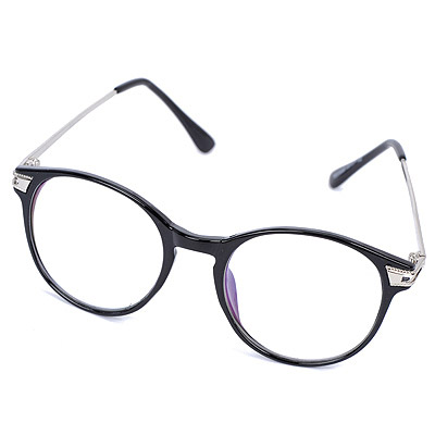 French Black Hollow Out Round Frame Design Resin Fashon Glasses