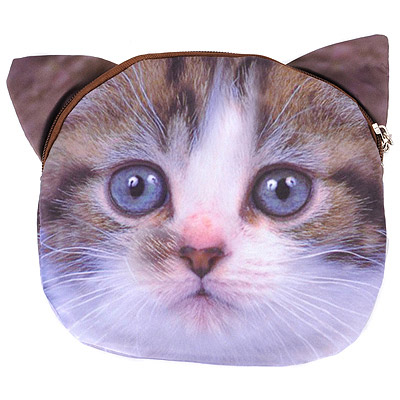 Novelty Brown Cat Pattern Simple Design