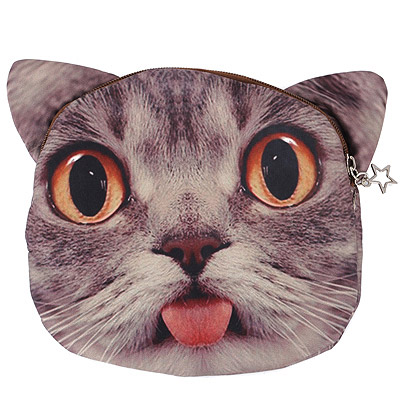 Photograph Brown & Gray Cat Pattern Simple Design
