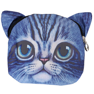 Stainless Dark Blue Cat Pattern Simple Design