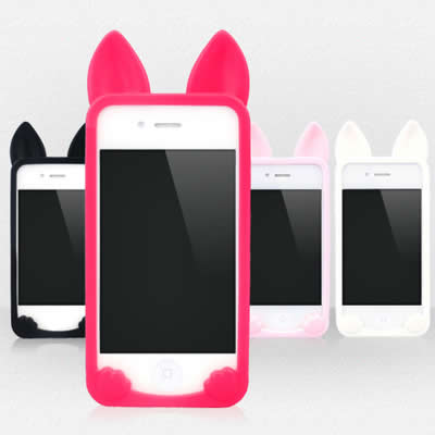 Mustard Red Pure Color Cat Ears Shape Simple Design (iphone 6) Silicone Iphone 6