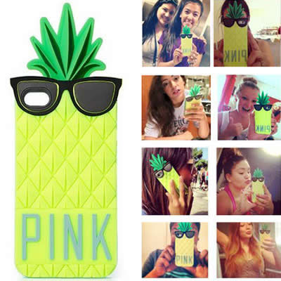 Synthetic Green Pineapple Shape Simple Design (iphone 6)