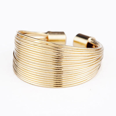 Adjustable Gold Color Multilayer Simple Design