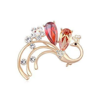 Detachable Multicolor&Champagne Elegant Phoenix Shape Design AAA zircon Crystal Brooches