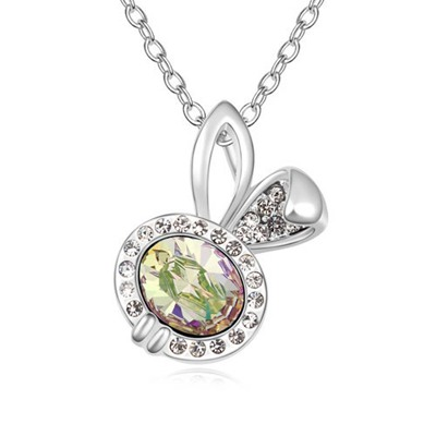 Unique Luminous Green Lovely Rabbit Pendant Design Austrian Crystal Crystal Necklaces