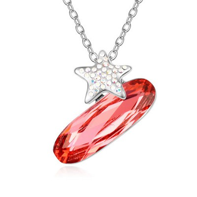 Medieval Padparadscha Implied Meaning The Night Of Stars Design Austrian Crystal Crystal Necklaces