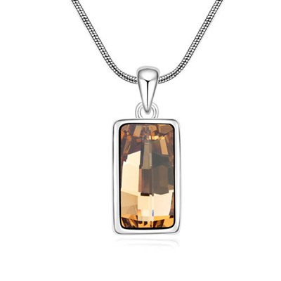 Male Light Yellow Implied Meaning Goddess Of The Moon Design Austrian Crystal Crystal Necklaces