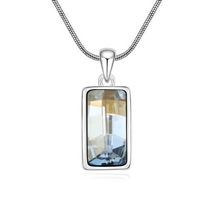 Magnifying Blue Implied Meaning Goddess Of The Moon Design Austrian Crystal Crystal Necklaces