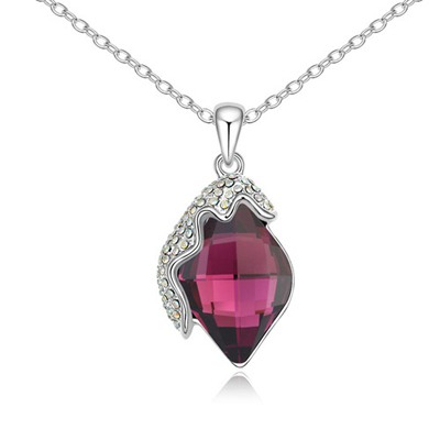 Lightest Purple Classic Lamp Pendant Design Austrian Crystal Crystal Necklaces