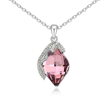 Political Pink Classic Lamp Pendant Design Austrian Crystal Crystal Necklaces