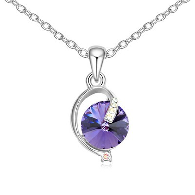 2011 Tanzanite Simple Design Austrian Crystal Crystal Necklaces