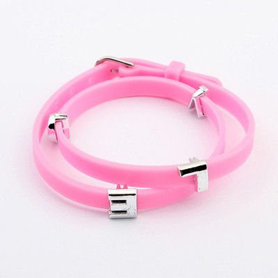 Highwaist Plum Red Metal Letter Decorated Multilayer Design Alloy Korean Fashion Bracelet