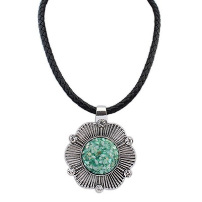 Lightning Green Exaggerated Ethnic Pendant Alloy Chains