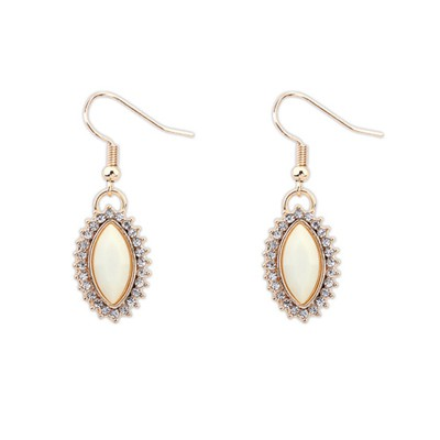 Legal Beige Boutique Tear Drop Shape Design Alloy Korean Earrings