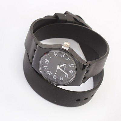 Portable Black Candy Color Joker Bracelet Style Silicone Ladies Watches