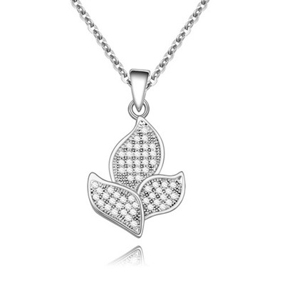 Milly White&Platinum Full Of Diamond Flower Shape Pendant AAA Zircon Chains