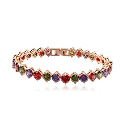 Bespoke Multicolor Diamond Patchwork Design AAA Zircon Fashion Bracelets