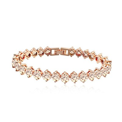 Winding Champagne Diamond Patchwork Design AAA Zircon Fashion Bracelets
