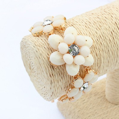 Musical beige flower shape design alloy Korean Fashion Bracelet