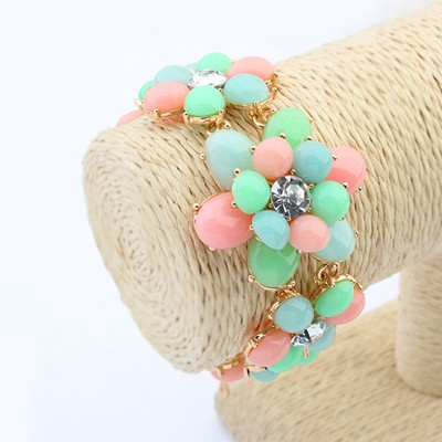 Local multicolor flower shape design alloy Korean Fashion Bracelet