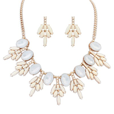 Pregnancy beige acrylic stone decorated sweet design alloy Jewelry Sets